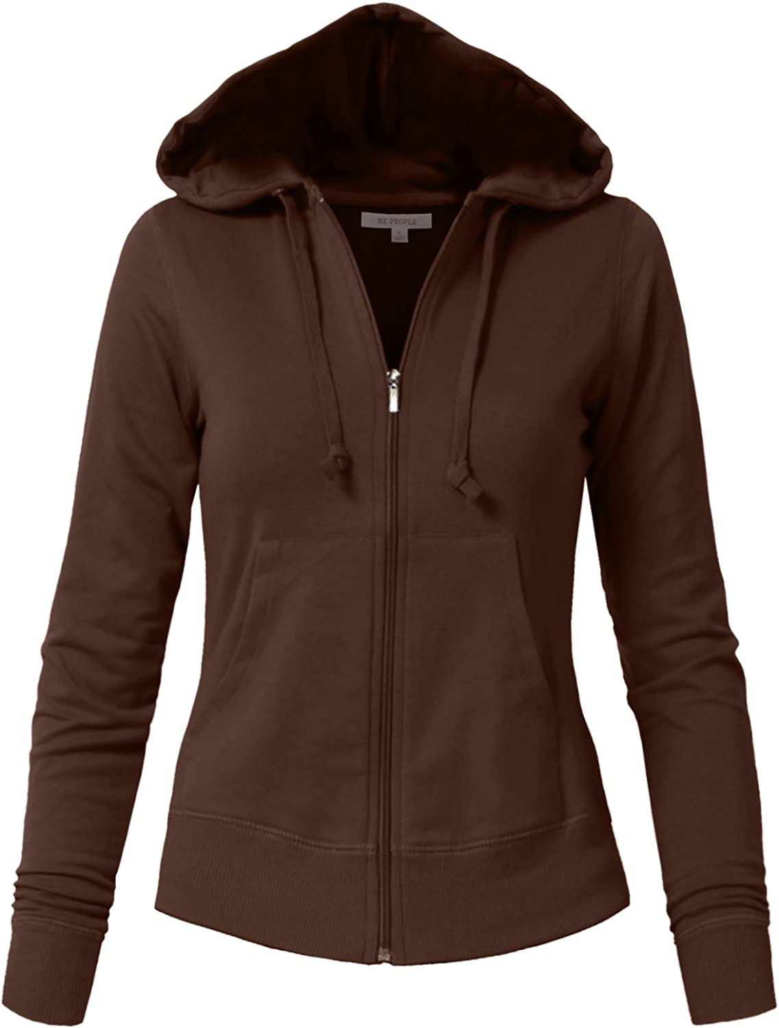 NE PEOPLE Womens Basic Zip Up Hoodie Jacket with Pockets S-3XL