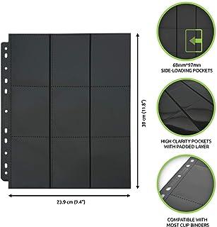 Vault X Sideloaders - 9-Pocket A4 Trading Card Binder Pages Storage Wallet - 900 Side Loading Pockets for TCG (50 Pages)