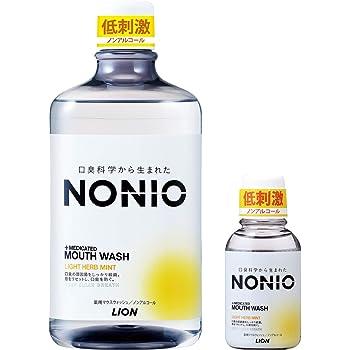 【Amazon.co.jp限定】 NONIO(ノニオ) [医薬部外品] マウスウォッシュ ノンアルコール ライトハーブミント 洗口液 セット 1,000ml+ミニリンス80ml