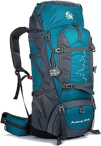 UICICI Wasserdichter Rucksack für Outdoor-Sportarten Camping Wandern Laufen Bergsteigenbeutel M er und Frauen 85L (Farbe   Peacock Blau)