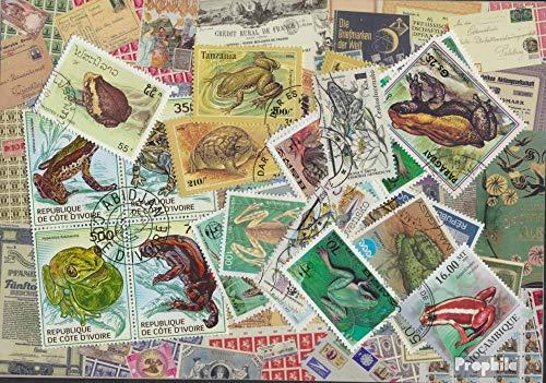 Prophila Collection Motive 25 Verschiedene Frösche Marken (Briefmarken für Sammler) Amphibien / Reptilien / Saurier