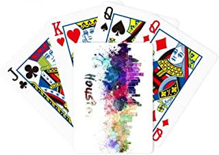 Houston America City Watercolor Poker Playing Magic Card Fun Board Game