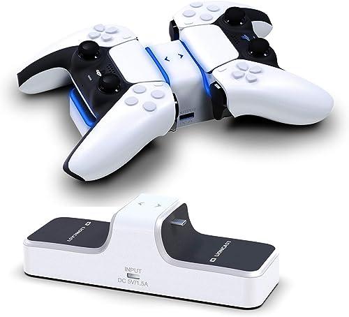 Lioncast Chargeur Manette PS5 - Double Station de Recharge Compatible avec Manettes sans Fil Dualsense de la Console ...
