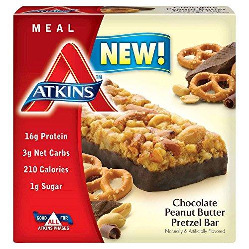 Atkins Chocolate Peanut Butter Pretzel Meal Bar - 5 Count