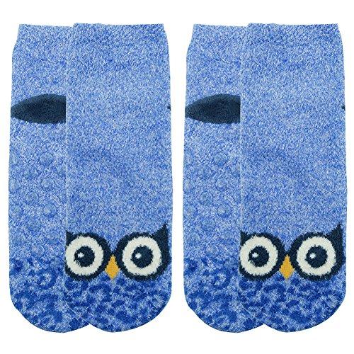 Vive Bears Womens Casual Socks Soft Animal Socks Non-slip Fashion Slipper Socks,2 Pack