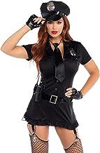 LEG AVENUE(レッグアベニュー) Dirty Cop 帽子 ドレス 手袋 ベルト タイ 小物の6点セット XL ブラック 83344