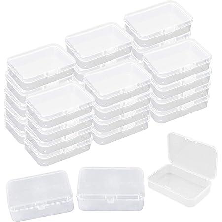 30 Pcs Transparent Mini Boîte de Rangement, Plastique Conteneurs De Stockage Bijoux Organisateur Boîte avec Couvercles Flip-up pour Carte, Perle Minuscule, Jewerlry, 8,5 * 5,5 * 2,5 cm