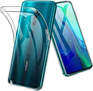 OPPO Reno 10x Zoom ケース TopACE クリア スリム TPU カバー 落下 衝撃 吸収 擦り傷防止 OPPO Reno 10x Zoom 用 カバー (OPPO Reno 10x Zoom,クリア)