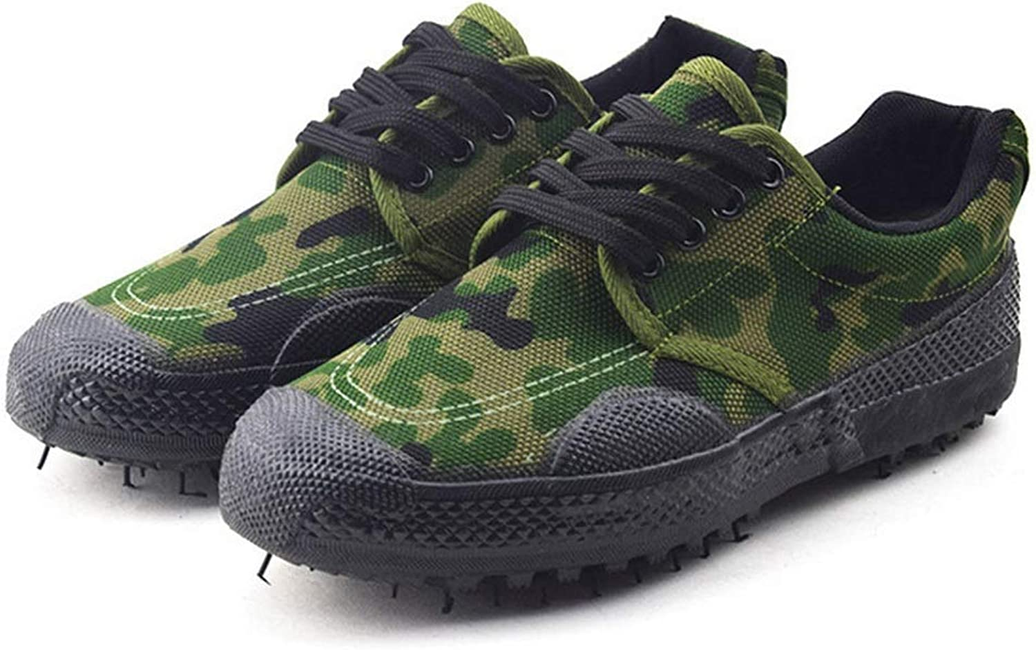KERVINFENDRIYUN Low Help Liberation shoes Outdoor Site Mountaineering Labor Insurance Camouflage Rubber shoes Men's Training shoes