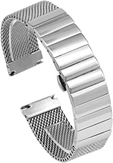 18mm 20mm 22mm 24 mm Stainless Steel Mesh Watch Band Shark Diving Strap Replacement Part