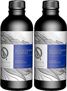 Quicksilver Scientific Liposomal Glutathione Complex - Cleansing Support Formula with Active B Vitamins + Milk Thistle (3.38oz / 2 Pack)