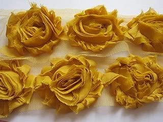 mustard yellow chiffon fabric