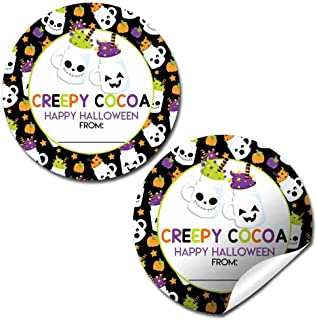 Creepy Cocoa Hot Chocolate Halloween Thank You Sticker Labels, 40 2