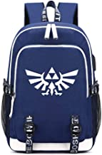 The Legend of Zelda Breath of the Wild Backpack USB Charging Students Laptop Kids School Bags Teenagers Travel Daypacks