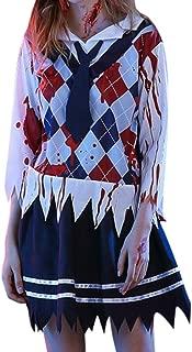 LENXH_Halloween Costume Female Ghost School Uniform Fashion Dress Ghost Costume Casual Dress