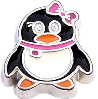 Chubby Penguin Floating Locket Charm