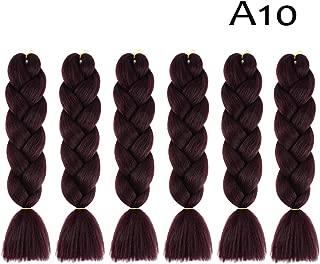 "24""/60cm Ombre Kanekalon Jumbo Braiding Synthetic Hair Extension Braid 6 Pack(#A10)"