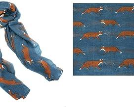 Equestrian Scarf - Steel Blue Fox Trot Scarf