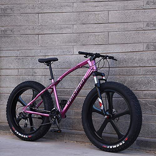 DelongKe 26 Zoll Mountainbike, Scheibenbremsen MTB, Trekkingrad Herren Bike Mädchen-Fahrrad, Vollfederung Mountain Bike, 27 Speed,B