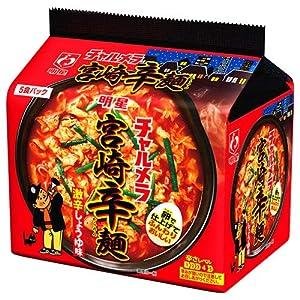 明星食品 チャルメラ 宮崎辛麺 5食パック×6袋入