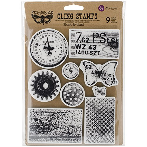Prima Marketing Finnabair Cling Stamps 6'X7.5'-Rust & Dust