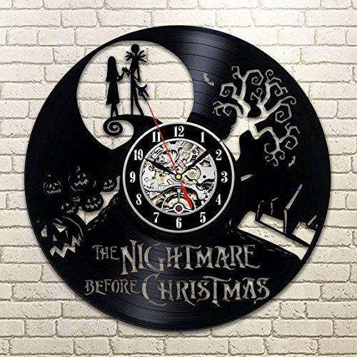 Nightmare Before Christmas Gift, Nightmare Before Christmas, Vinyl Wall Clock, Xmas Gift, Wall Clock Large, Nightmare Before Christmas Clock