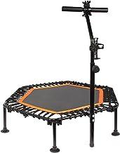 PROMECITY Trampoline Rebounder met verstelbare handgreep voor volwassenen fitness, jumping cardio trainer training voor bi...