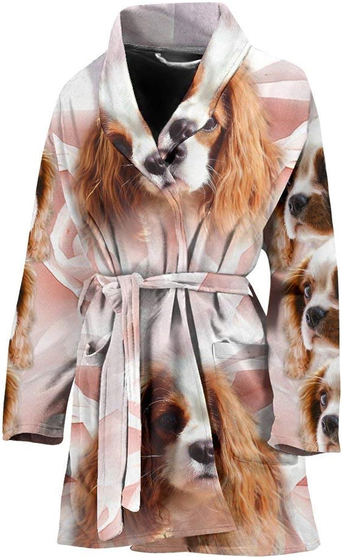 Deruj Cute Cavalier King Charles Spaniel Print Women's Bath Robe