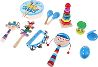 MagiDeal Orff Educational Baby Kids Drum Musical Instruments Band Kit Children Toy Gifts 11Pcs #2