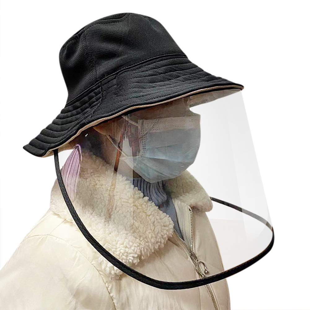 Adjustable Size Waterproof /& Dust-proof Outdoor Sun Shade Fisherman Cap MORCHAN Protective Hats Anti-Spitting/&Saliva Face Mask Cover Protection Against Viruses Isolation Cap