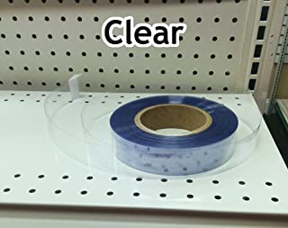 Transparent/Clear Gondola Shelving Vinyl Insert for Ticket Channel 130 FT. x 1.25 in. - Clear