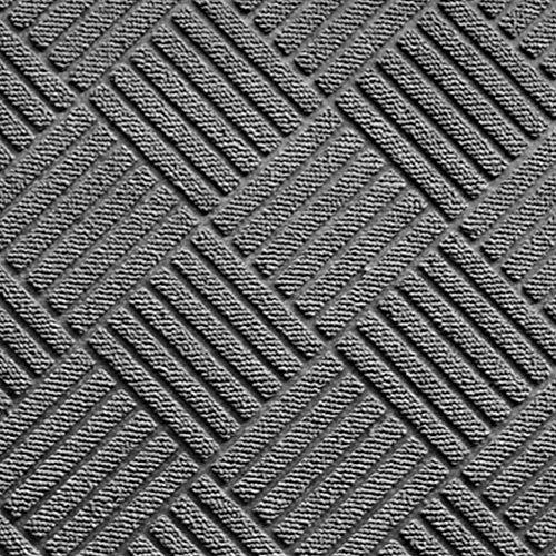 douceur d'intérieur tapis d'entree rectangle 45x75 cm pvc carreaux gris