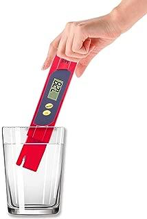 pH計 pHメーター 0.00-14.00pH 高精度 自動校正 自動温度補正 水産業 水族館 プール 水耕栽培 医薬 自由研究 水質検査 水素イオン指数測定 日本語マニュアル (赤い)