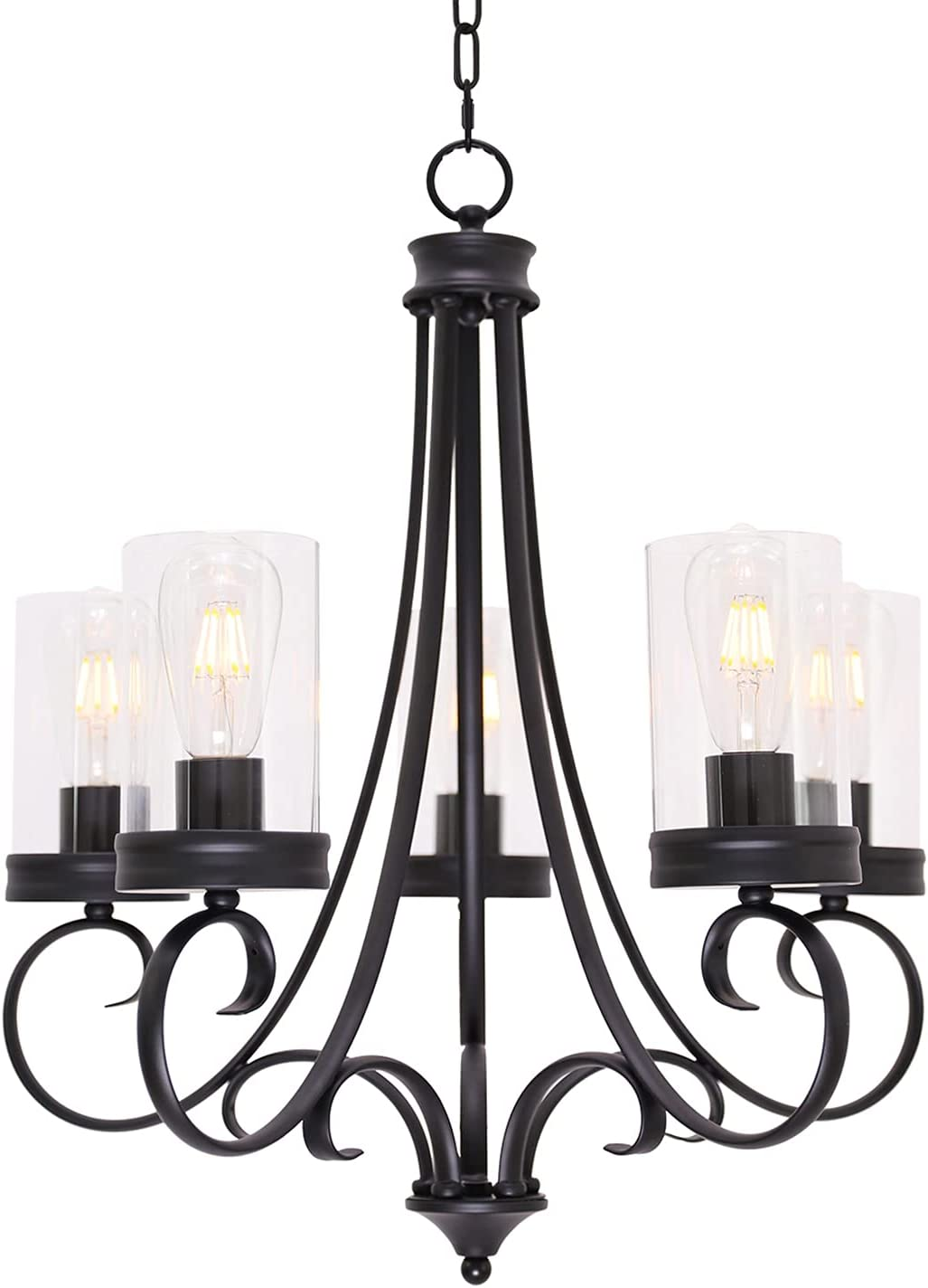 Lucidce Inexpensive Contemporary Chandelier 5 Fixt Max 79% OFF Pendant Black Light