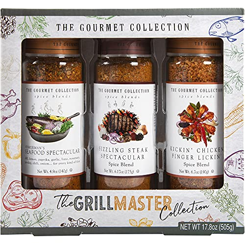 The Gourmet Collection Spices & Seasoning Blends – The GrillMaster Collection. Grillmaster Gifts for Men. Ultimate Gourmet Grilling Spices Gift Set. Gourmet Made Easy with Seasonings for Grilling.