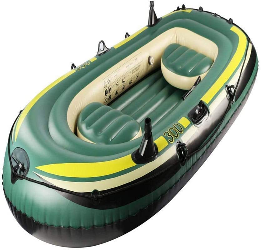 WuLL High quality Three-Person Fishing Max 58% OFF PVC Inflatable Boat