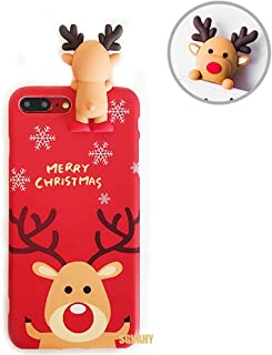 SGVAHY Christmas Case for iPhone 6 / 6s, Fun Cool Cute 3D Cartoon Elk Design Soft Silicone TPU Slim Shockproof Protective Case for iPhone 6 / 6s (Elk A, iPhone 6 / 6s)