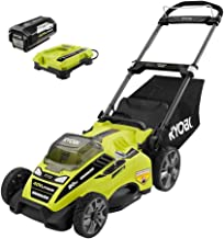 Ryobi 20 in. 40-Volt Brushless Lithium-Ion Cordless Electric Lawn Mower with 5.0 Ah Battery