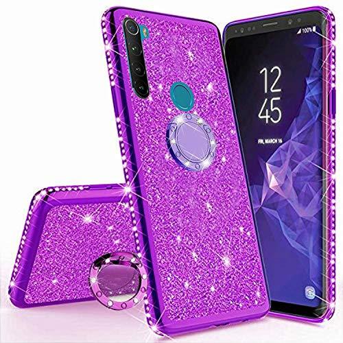 Miagon Hülle Glitzer für Samsung Galaxy A11/M11,Glänzend Mädchen Frauen Weich Silikon Handyhülle mit Strass Diamant 360 Grad Ständer Schutzhülle Etui Cover