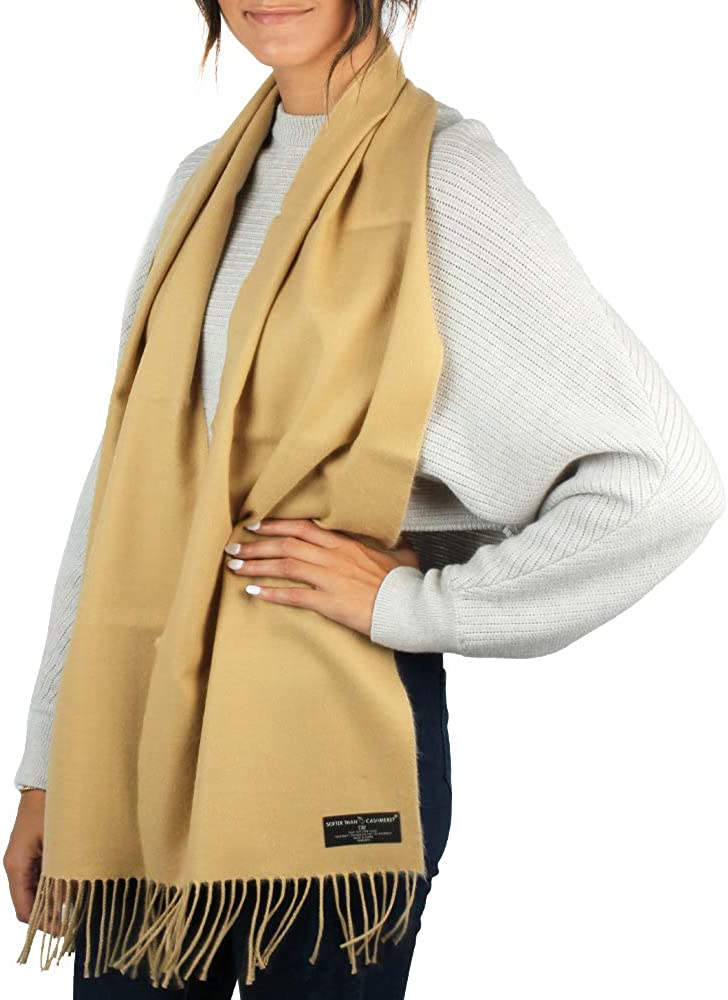 Softer Than Cashmere? Fall Winter Scarf with Cashmere Feel, Faux Cashmere Scarf - Warm Soft Acrylic Wrap Shawl