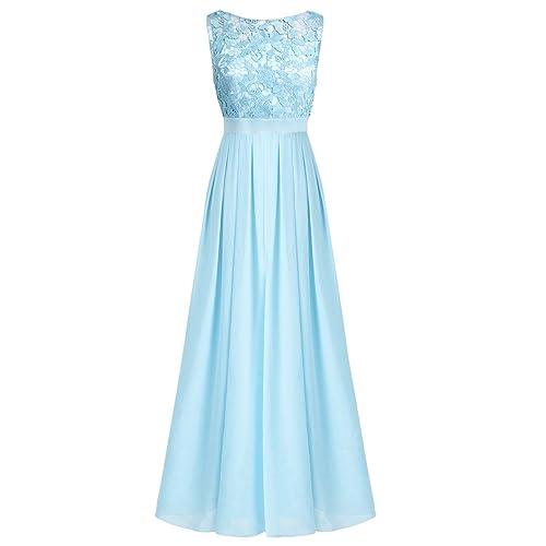 ungeschlagen x Steckdose online verschiedene Farben Brautjungfernkleid Lang Blau: Amazon.de