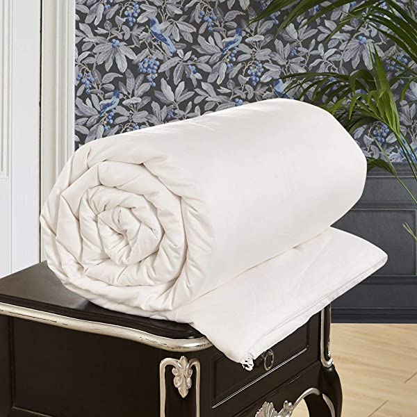 LilySilk All Season White Silk Comforter With Cotton Covered Silk Weight 2 0kg 100 Silk Duvet Quilt King 104x92 Inches Breathable