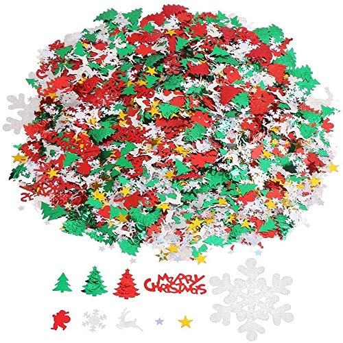 Coriandoli di Natale,Natale Decorazioni Coriandoli 100g Pentagramma, Fiocco di Neve, Babbo Natale, Pino, Buon Natale Alfabeto, Alce, Decorazioni per Feste di Natale