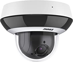 ANNKE CZ400 PoE IP Audio Security Camera 4MP 4X Optical Zoom AI Human PTZ CCTV Dome Cam w/ Mic, Color Night Vision, H.26...