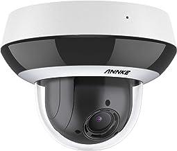 ANNKE CZ400 PoE IP Audio Security Camera 4MP 4X Optical Zoom AI Human PTZ CCTV Dome Cam w/ Mic, Color Night Vision, H.265+...