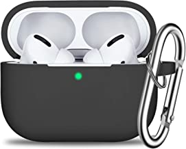 AirPods Pro Case Cover with Keychain, Full Protective Silicone Skin Accessories for Women Men Girl with Apple 2019 Latest ...