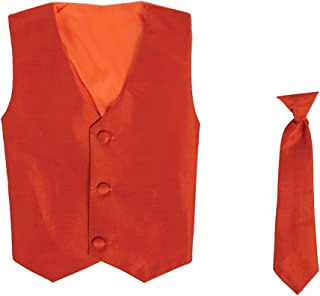 Lito Vest and Clip On Necktie Set-Multiple Colors-Baby Infant Toddler Boys Sizes