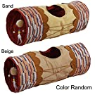 ALL FOR PAWS Crinkle Cat Tunnel Tube Collapsible Play Toy Fun for Rabbits, Kittens, and Dogs