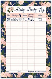 Newborn Baby Log Tracker Journal Book, Infant Daily Schedule, Feeding Food Sleep Naps Activity Diaper Change Monitor Notes...