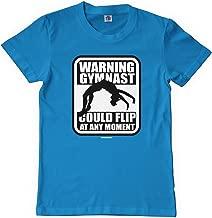 Threadrock Big Girls' Warning Gymnast Could Flip at Any Moment Youth T-Shirt